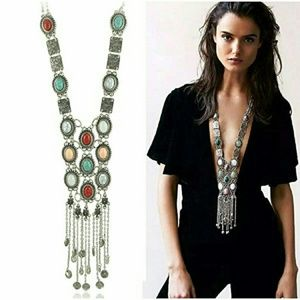 5-Star Rated Long Stone Retro Boho Necklace